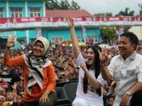 Ribuan Warga Lampung Padati Lapangan Jatimulyo, Via Vallen Ajak Pilih Arinal – Nunik tanggal 27 Juni 2018