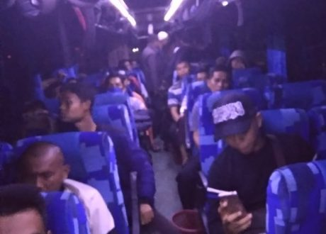 Ribuan Warga Lampung di Merak Banten Hadiri Reuni 212