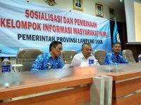 Diskominfotik Lampung Gelar Sosialisasi dan Pembinaan KIM di Pekalongan Lamtim