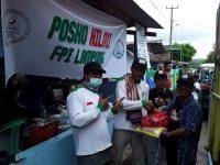 Laskar FPI Lampung Selatan Masih Siaga di Lokasi Bencana