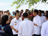 Gubernur dan Wagub Lampung Dampingi Presiden Tinjau Lokasi Bencana Tsunami