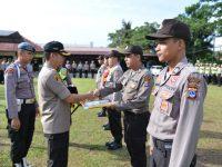 Polres Banjar Gelar Upacara Korps Raport Kenaikan Pangkat