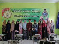 IAI Agus Salim Kota Metro Pastikan Transparansi Proses Rekrutmen Tenaga Dosen