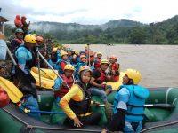 Ketua Korcab Rem 044/Gapo Wisata Arum Jeram Dan Resmikan Mess Benteng Lahat