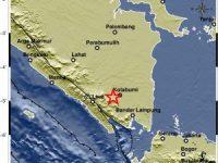 Gempa Guncang Lampung Utara-Lampung Tidak Berpotensi Tsunami