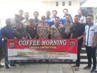 Kapolres Lampung Utara Gelar Coffee Morning Bersama Wartawan