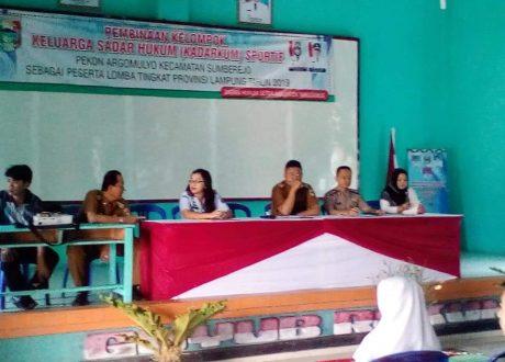 Pekon Argomulyo, Sumberejo Ditetapkan Sebagai Kelompok Kadarkum Sportif Terbaik Tingkat Kabupaten Tanggamus
