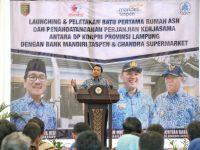 Gubernur Ridho Tandatangani Prasasti Pembangunan Perumahan bagi 4.291 PNS