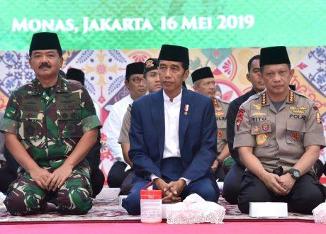 Presiden Buka Puasa Bersama dengan TNI dan Polri