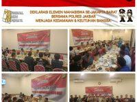 Elemen Mahasiswa Bersama Polres Jakbar Deklarasi Jaga Kedamaian dan Keutuhan Bangsa