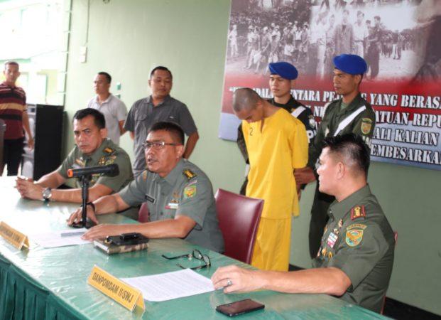 Timsus Denintel Kodam II/Swj Berhasil Tangkap Prada 'DP  Di Daerah Serang Banten