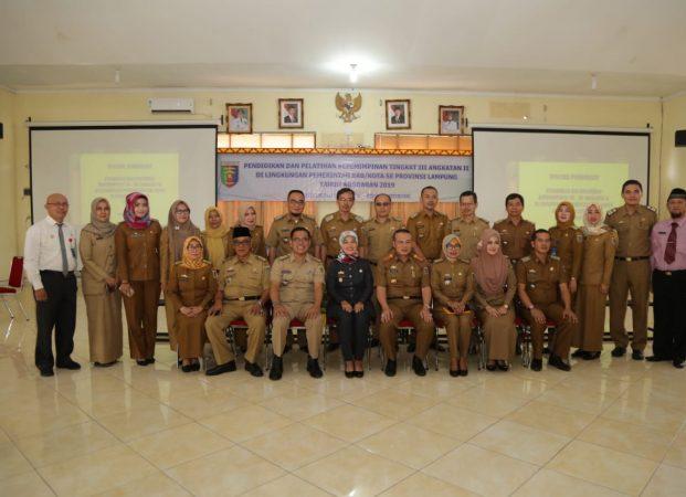 Wagub Chusnunia Buka Diklat Kepemimpinan III Angkatan II se-Provinsi Lampung