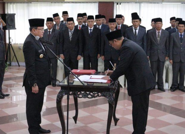 Bupati Muba Dodi Reza Lantik Tiga Pejabat Eselon II