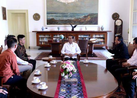 Rapper Rich Brian bersama Jokowi Ngobrol Tentang Musik di Istana Bogor