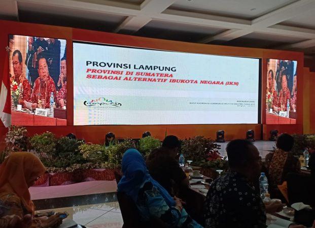 Paparan Arinal tentang Kesiapan Lampung Jadi Ibukota Negara dalam Rakorgub se-Sumatera
