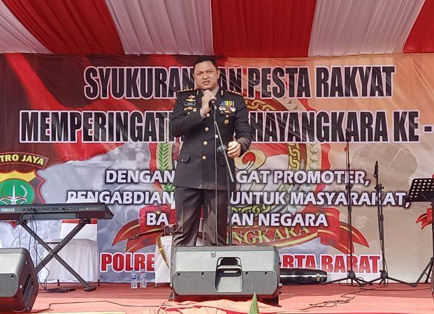 HUT Bhayangkara, Polres Jakbar Gelar Pesta Rakyat dan Syukuran