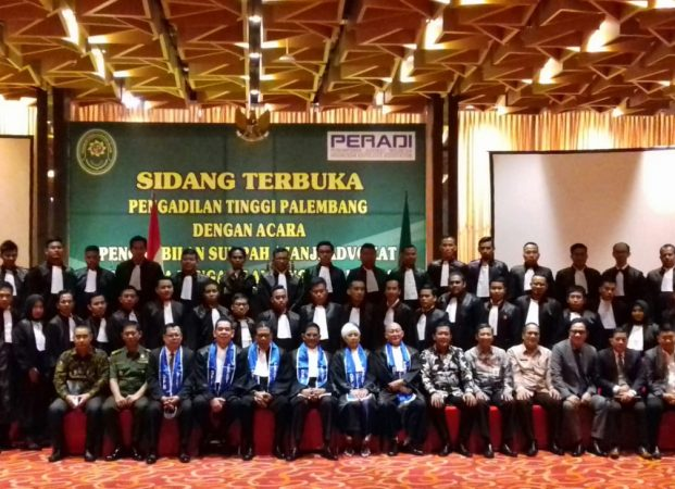 Sebanyak 139 Advokat Resmi Dilantik di Wilayah Pengadilan Tinggi Palembang