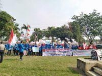 Puluhan Mahasiswa Megow Pak Sambangi Kantor Bupati Tulangbawang