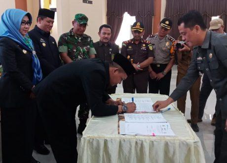 DPRD Tanggamus Setujui Rancangan KUA dan PPAS TA 2020
