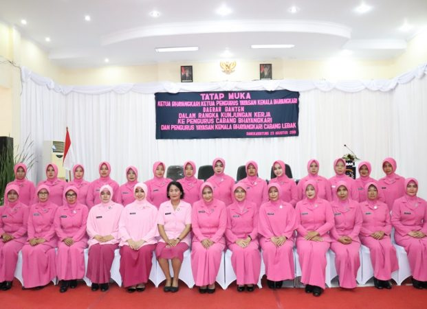 Ketua Bhayangkari Daerah Banten Gelar Tatap Muka dengan Bhayangkari Cabang Lebak