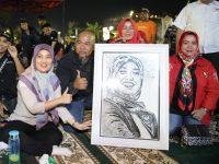 Wagub Nunik Siap Bergandengantangan Dengan Seniman Lampung Peduli