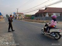 Ditsamapta Polda Banten, Layani Masyarakat dengan Gatur Lalulintas Pagi Hari