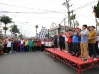 Gubernur Arinal Ikuti Jalan Sehat HUT Lambar ke-28