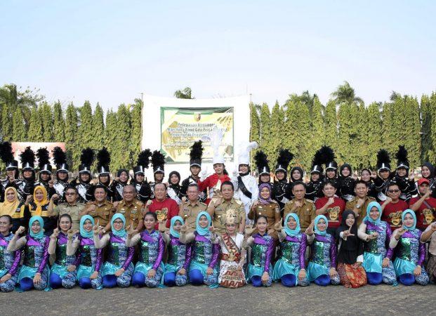 Pelepasan Marching Band Gita Praja Saburai Ikuti Kejuaraan di Bandung