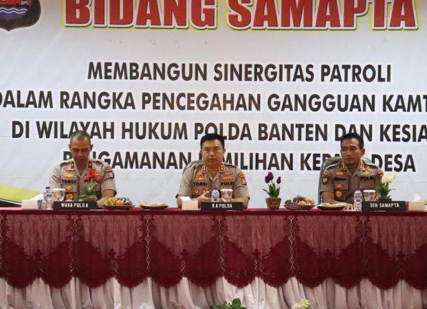 Kapolda Banten Buka Rapat Kerja Tekhnis Bidang Samapta Polri