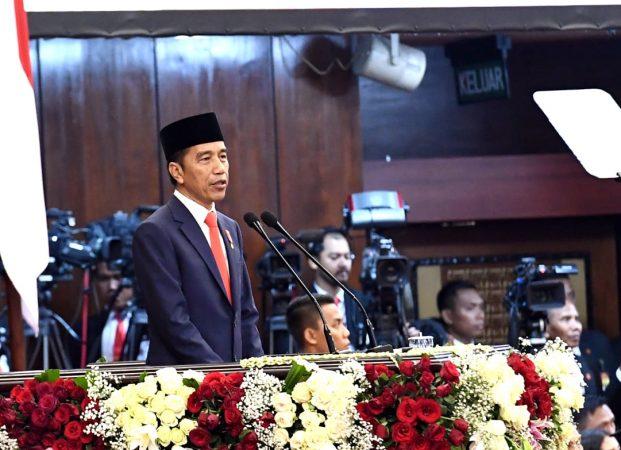 Pidato Awal Periode Kedua, Presiden Jokowi: Kerja Keras dan Dobrak Rutinitas