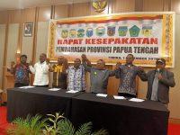 Teken Surat Kesepahaman, 7 Kepala Daerah Inginkan Pemekaran Papua Tengah