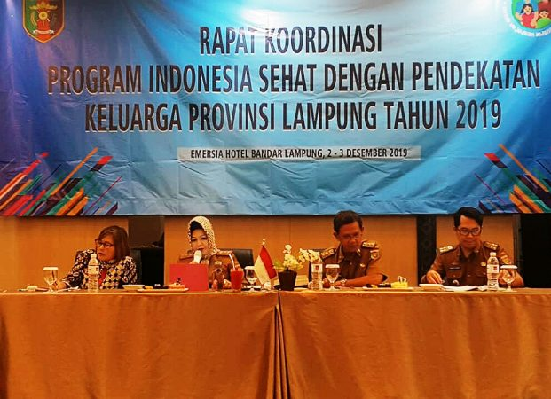 Kadinkes Reihana Buka Pertemuan Koordinasi PIS-PK Provinsi Lampung