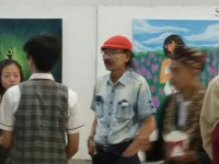 Seniman Bambang SBY Dkk Dampingi Siswa GSMS Gelar Karya Lukis