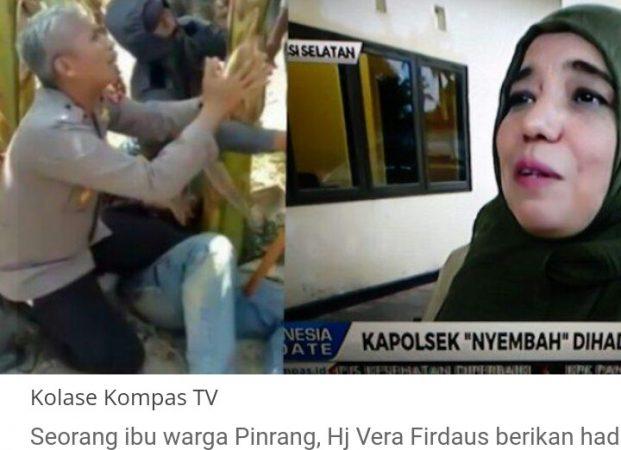 Kapolsek Bersimpuh Lindungi Korban dari Amuk Massa Dihadiahi Umroh oleh Warga Pinrang