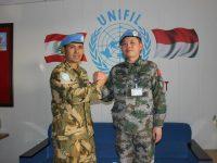 Komandan Kontingen Garuda Terima Kunjungan Kontingen Tiongkok